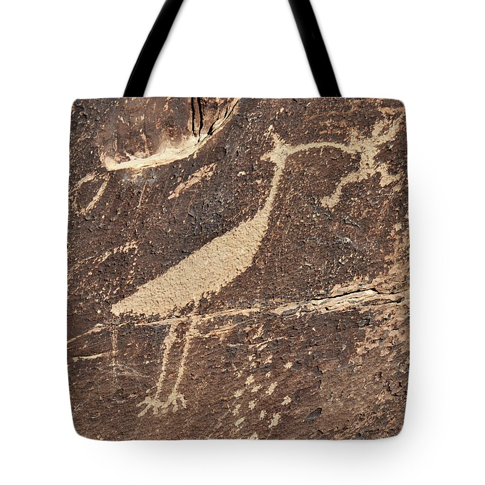 Petroglyph Tote Bag featuring the photograph Man In Beak by David Arment
