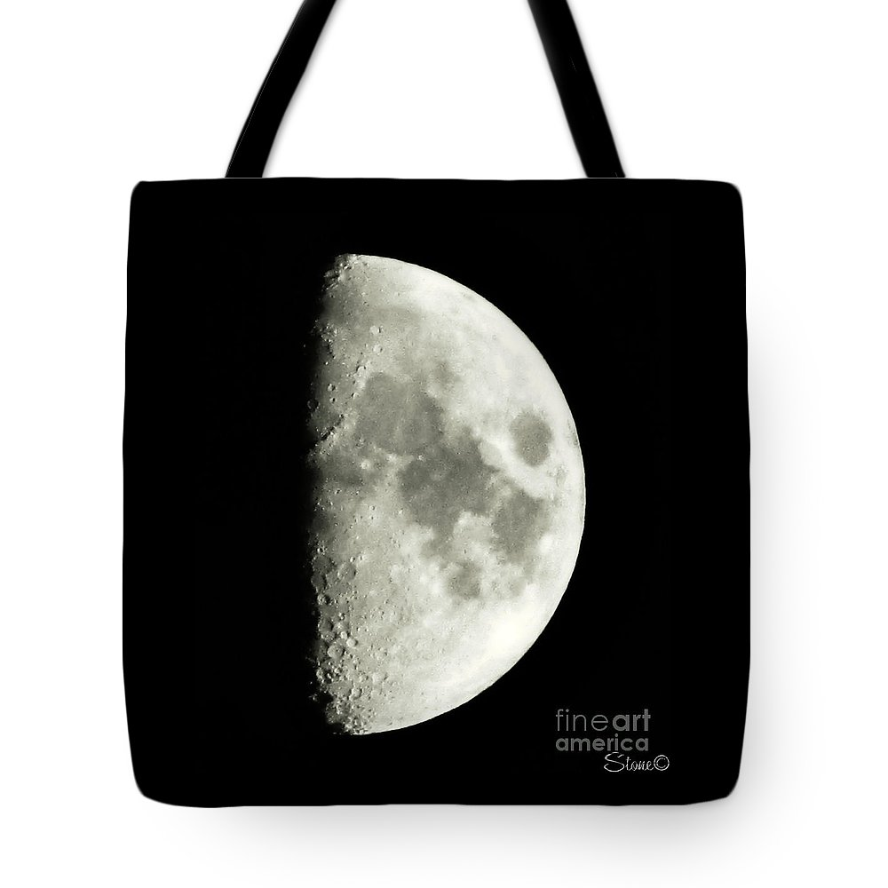 Lunar Tote Bag featuring the photograph Man In The Moon by September Stone