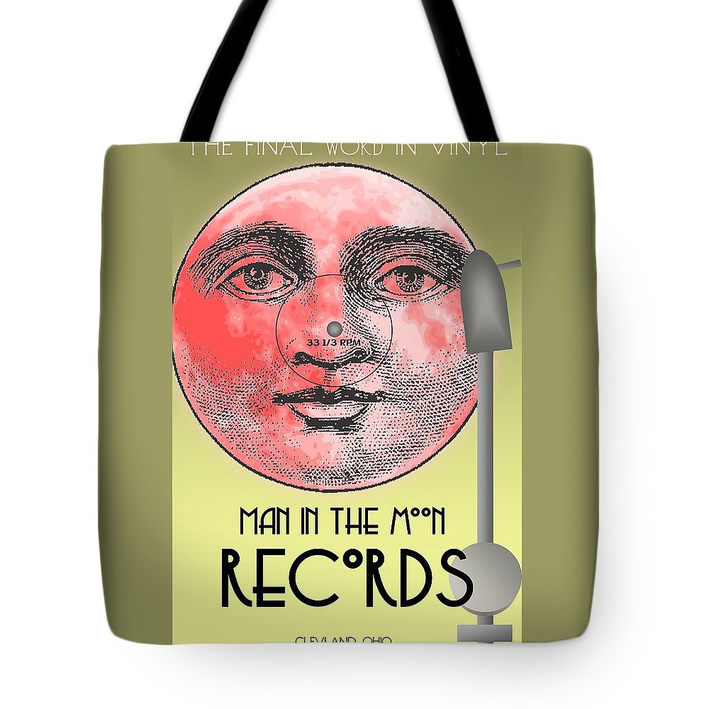 Man In The Moon Tote Bag featuring the digital art Man In The Moon by Steven Boland