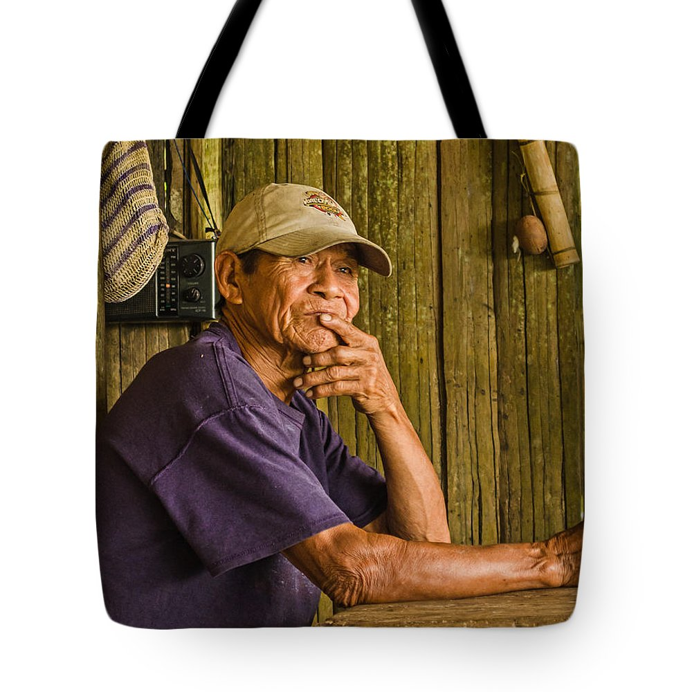 Peru Tote Bag featuring the photograph Man Of The House by Allen Sheffield