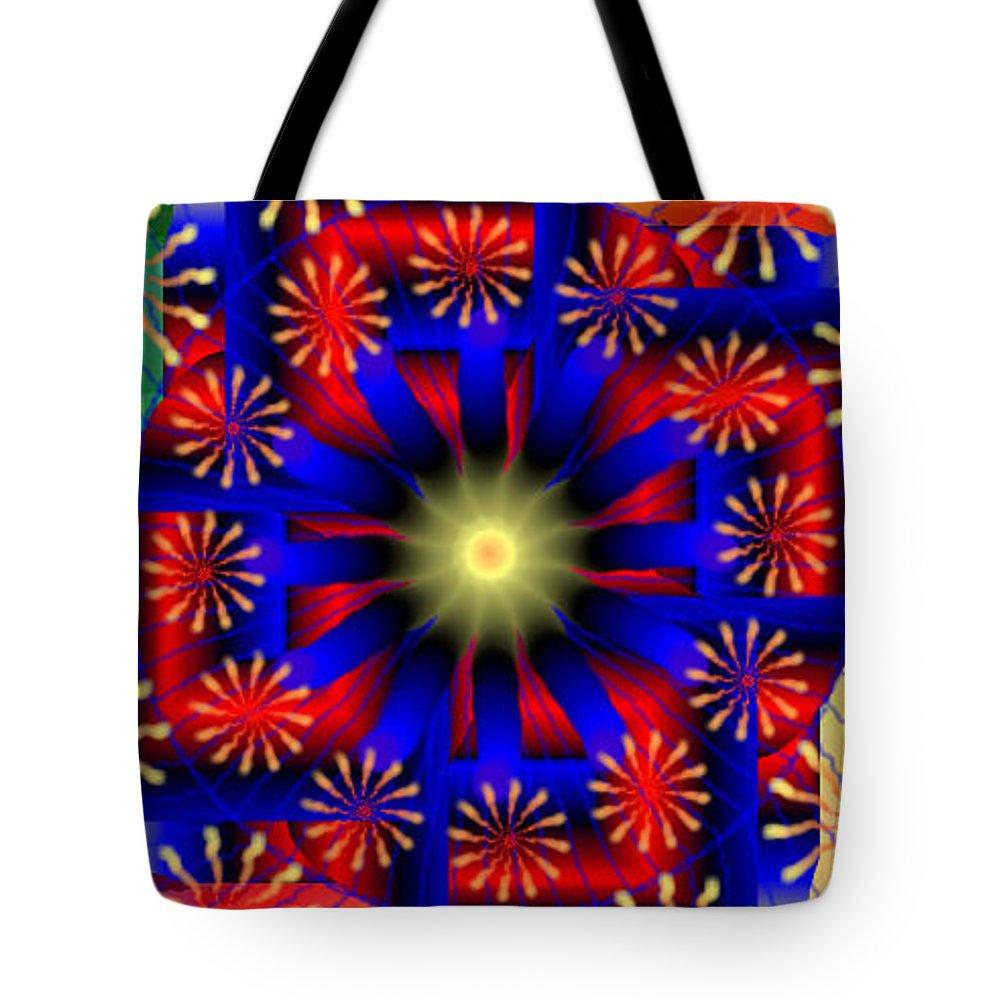 Mandala 15 Tote Bag featuring the digital art Mandala 15 by Catherine Lott
