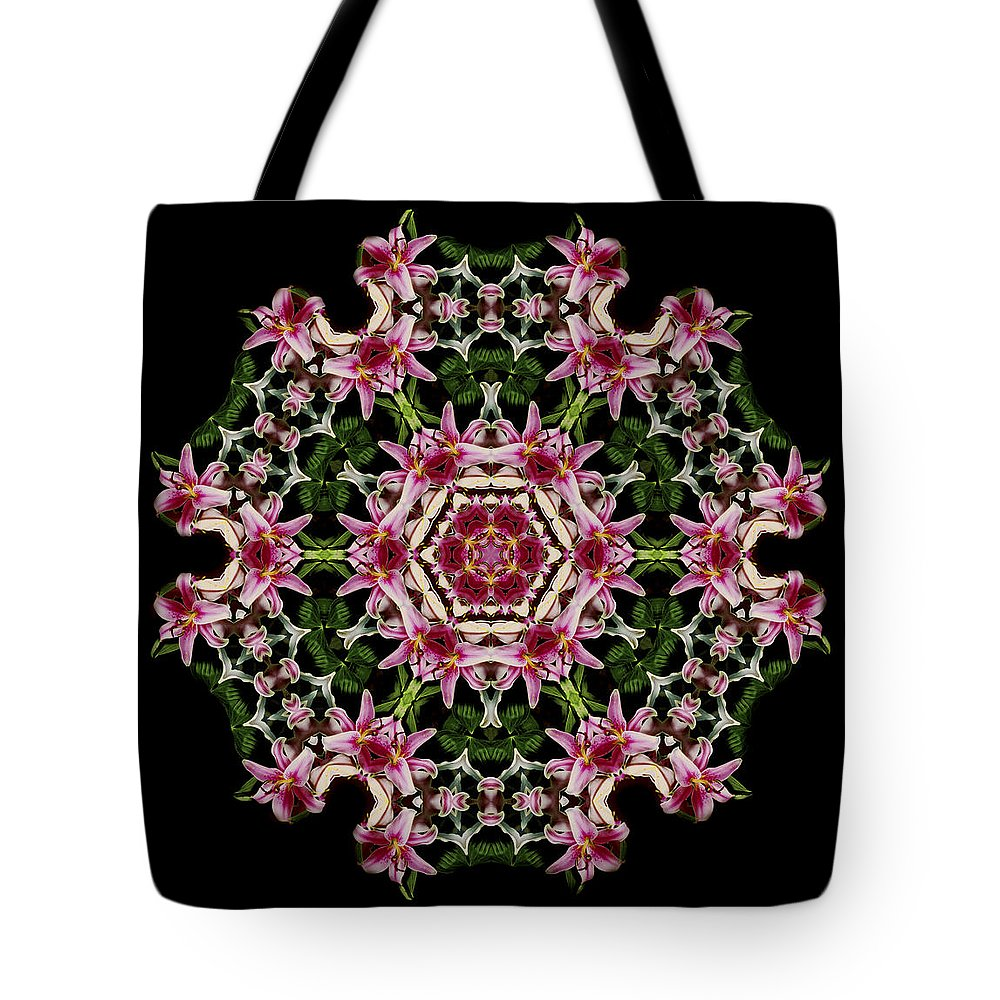 Mandala Tote Bag featuring the photograph Mandala Monadala Lisa by Nancy Griswold