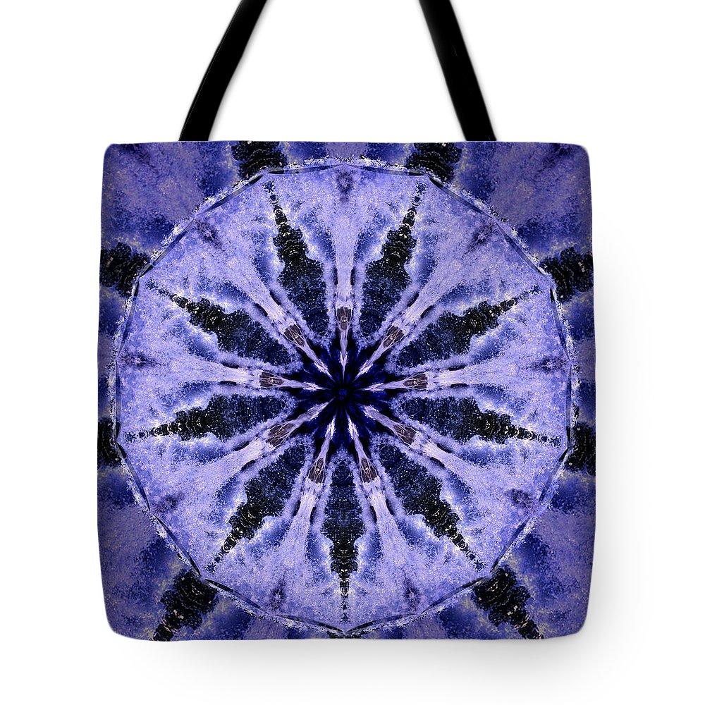 Mandala Tote Bag featuring the digital art Mandala Ocean Wave by Nancy Griswold