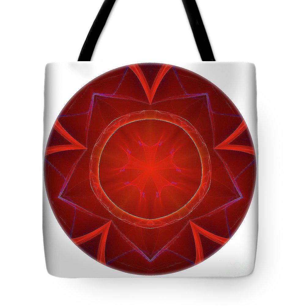 Talisman Tote Bag featuring the digital art Mandala - Talisman 4006 by Marek Lutek
