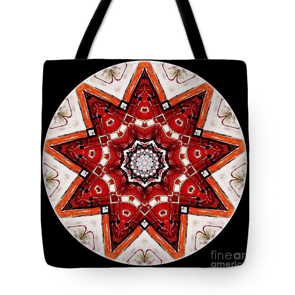 Talisman Tote Bag featuring the digital art Mandala - Talisman 4009 by Marek Lutek