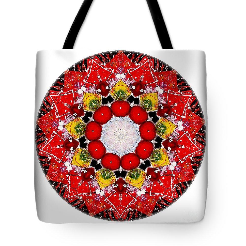Talisman Tote Bag featuring the digital art Mandala - Talisman 4010 by Marek Lutek