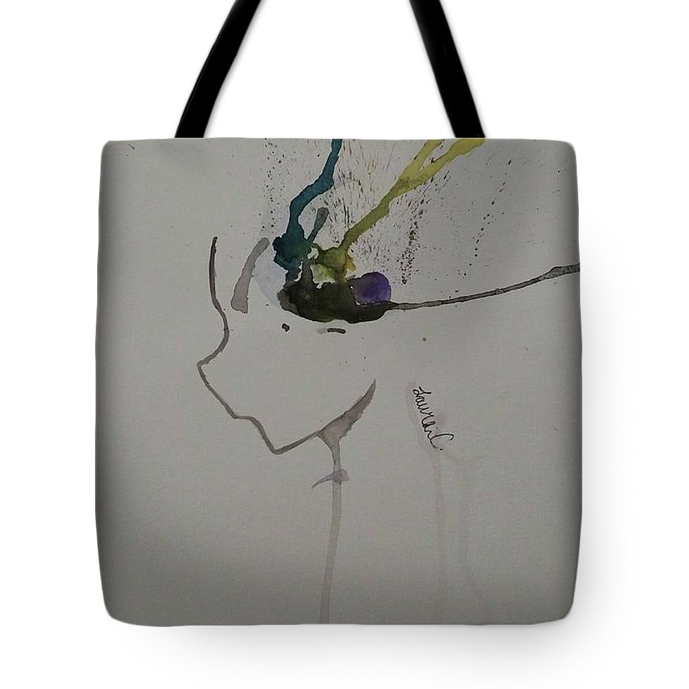 Experiment Tote Bag featuring the painting Manga Abstract by Lauren Champion