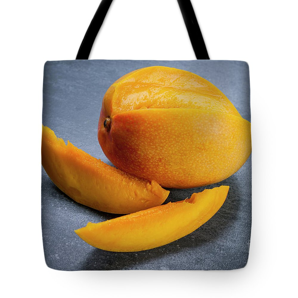 Mango Tote Bag featuring the photograph Mango And Slices by Elena Elisseeva