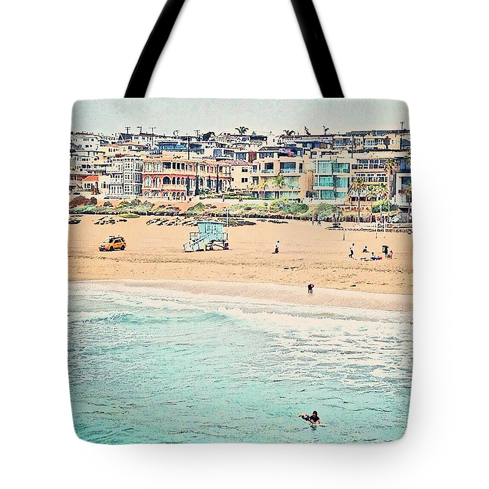 Cityscape Tote Bag featuring the photograph Manhattan Beach - Los Angeles, California by Thomas Krappweis