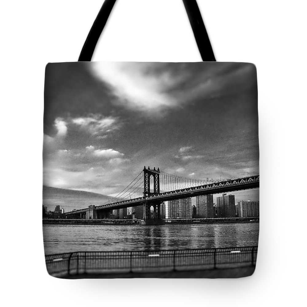 New Tote Bag featuring the photograph Manhattan Bound by Heather Reichel