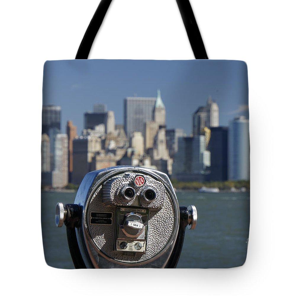 Binocular Tote Bag featuring the photograph Manhattan Skyline New York by Juergen Held