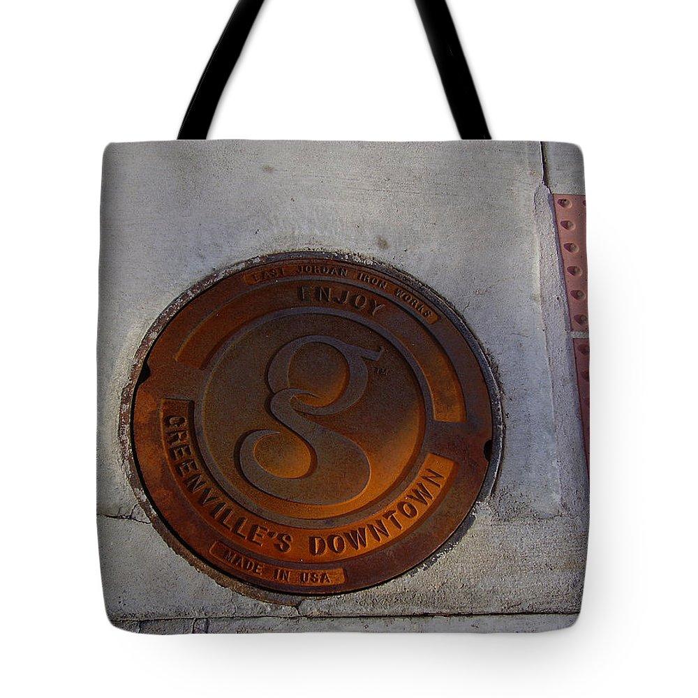 Manhole Tote Bag featuring the photograph Manhole I by Flavia Westerwelle