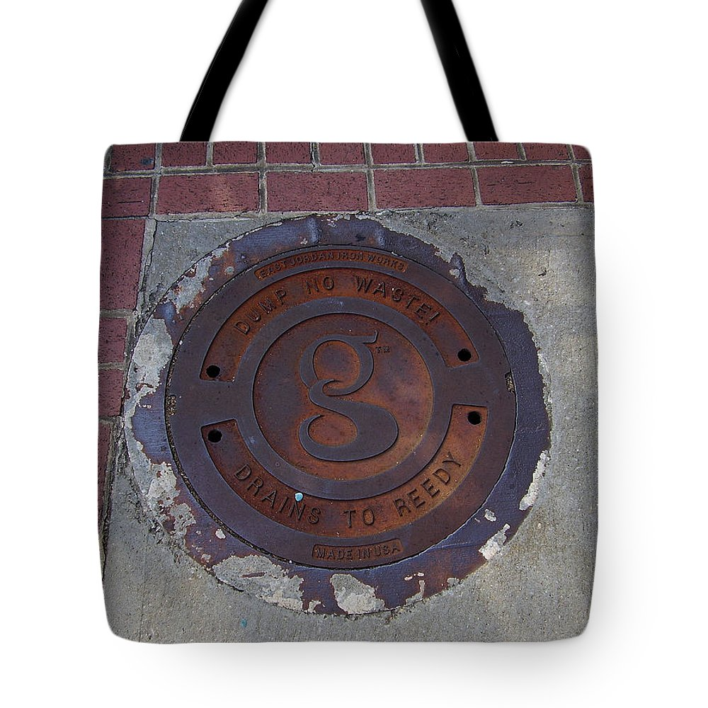 Manhole Tote Bag featuring the photograph Manhole II by Flavia Westerwelle