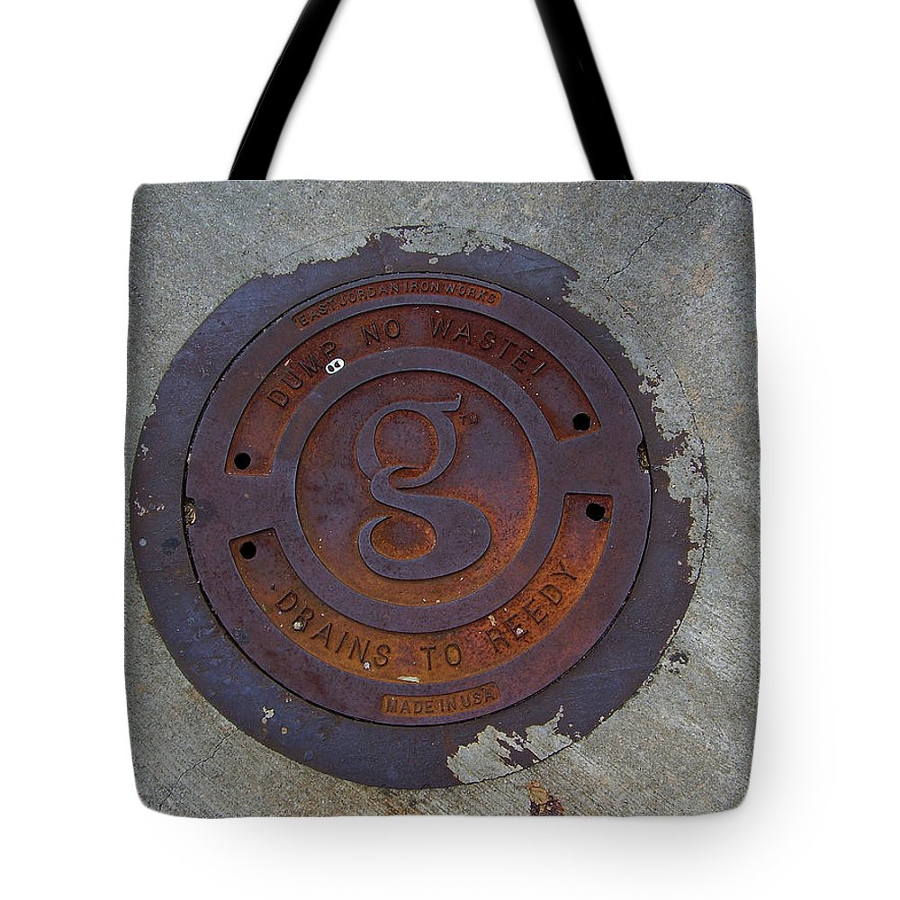 Manhole Tote Bag featuring the photograph Manhole IIi by Flavia Westerwelle