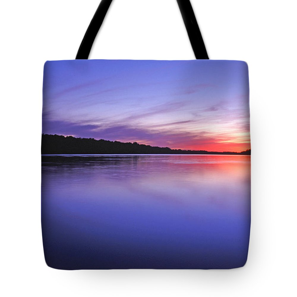 Landscape Tote Bag featuring the photograph Manidooziibi by Bill Morgenstern