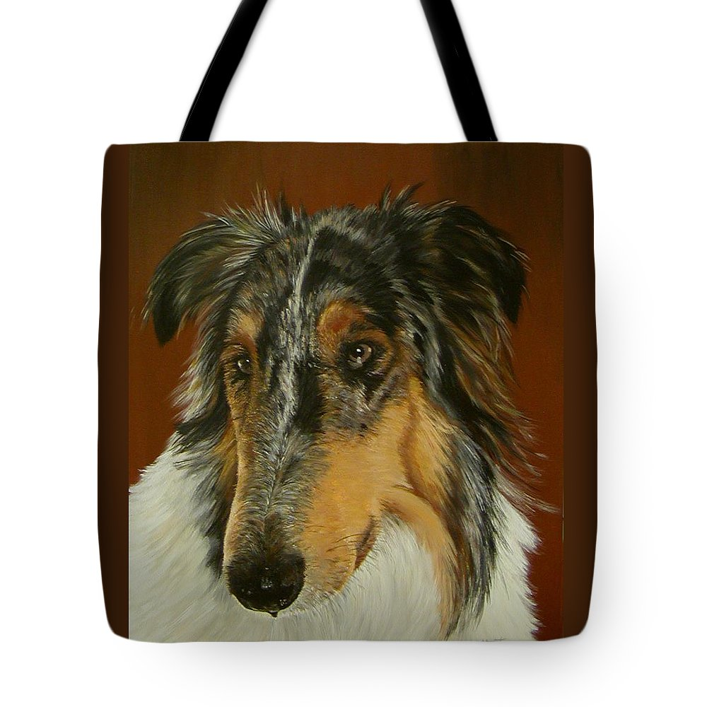 Painting Tote Bag featuring the painting Man's Best Friend by Sheryl Gallant