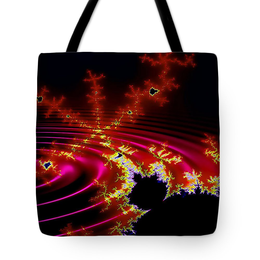 Fractal Tote Bag featuring the digital art Mantis by Robert Orinski