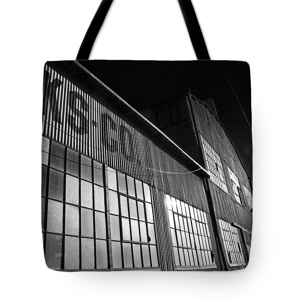 Abstract Tote Bag featuring the photograph Manufacturing 2-1 by Lenore Senior
