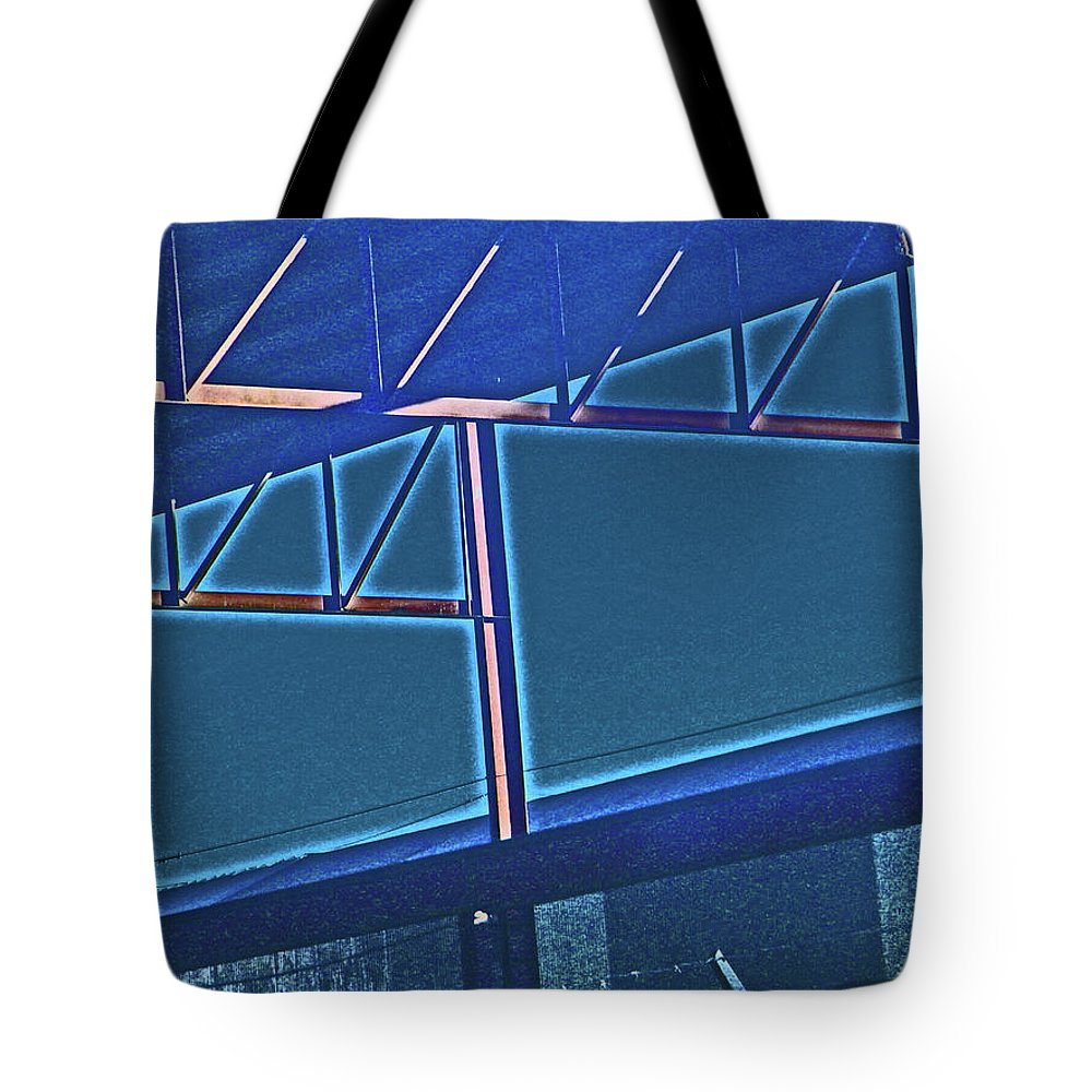 Abstract Tote Bag featuring the photograph Manufacturing Abstract by Lenore Senior