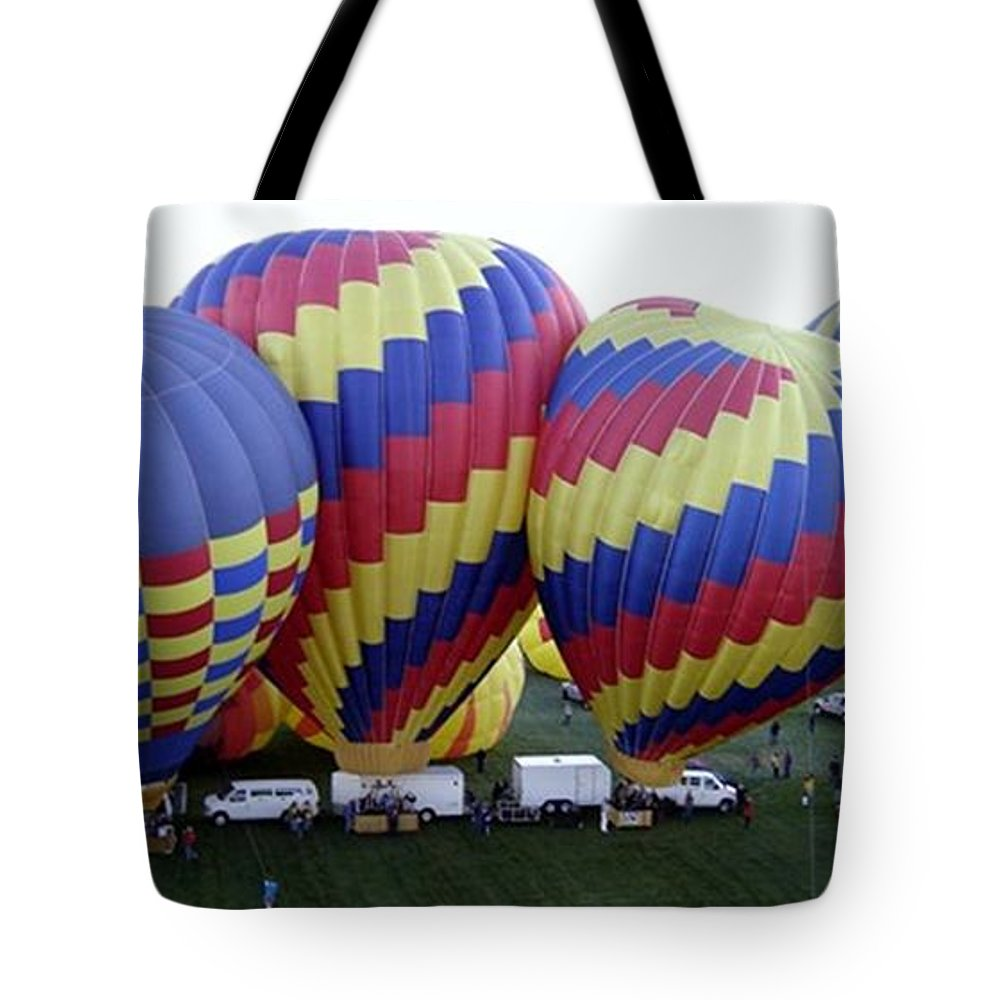 Hot Air Balloons Tote Bag featuring the photograph Many Balloons by Mary Rogers