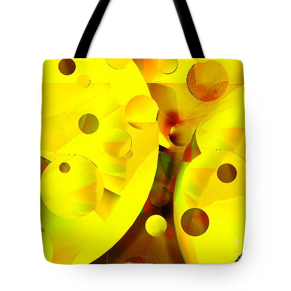 Suns Tote Bag featuring the digital art Many Suns by Shelley Jones