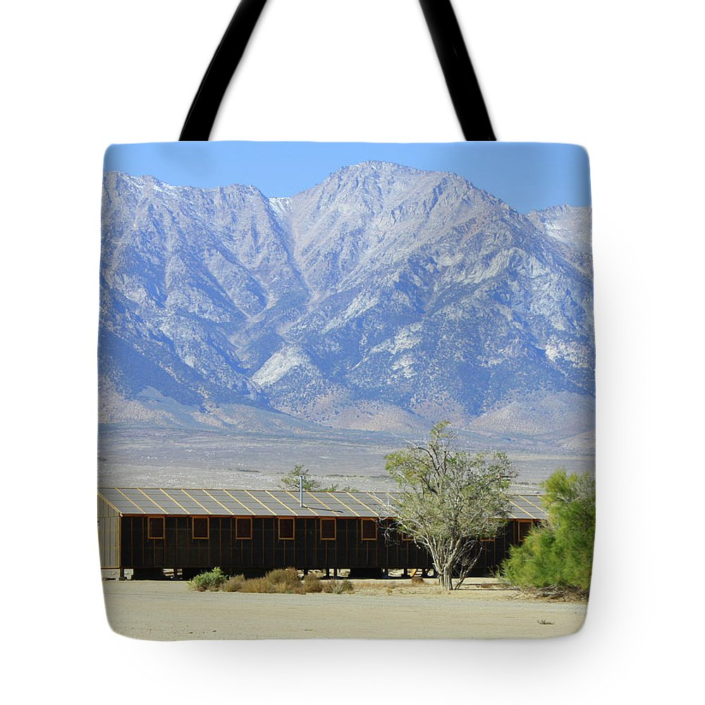 California Tote Bag featuring the photograph Manzanar A Blight On America 1 by Tommy Anderson