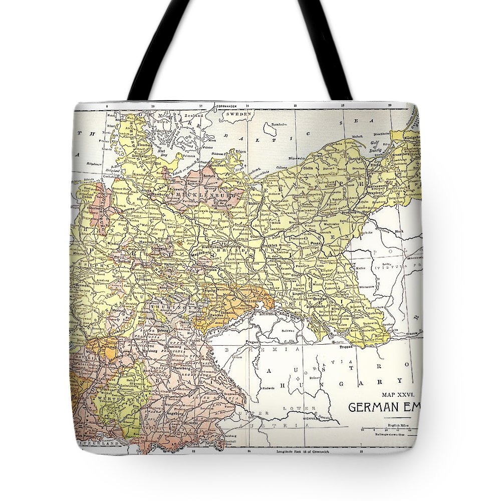 19th Century Tote Bag featuring the photograph Map: German Empire by Granger