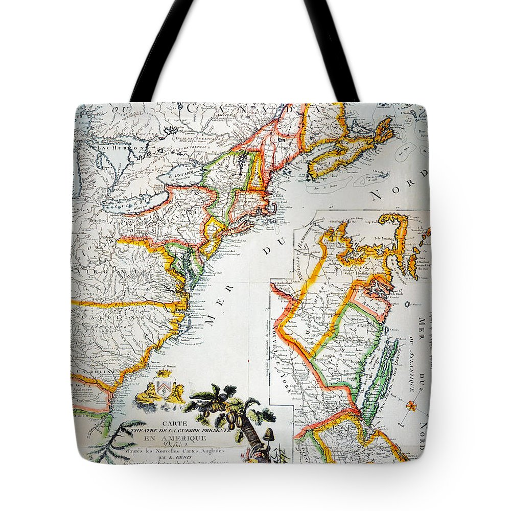 1779 Tote Bag featuring the photograph Map Of America, 1779 by Granger