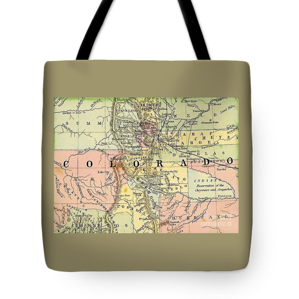 Map Tote Bag featuring the photograph Map Of Colorado by Pd