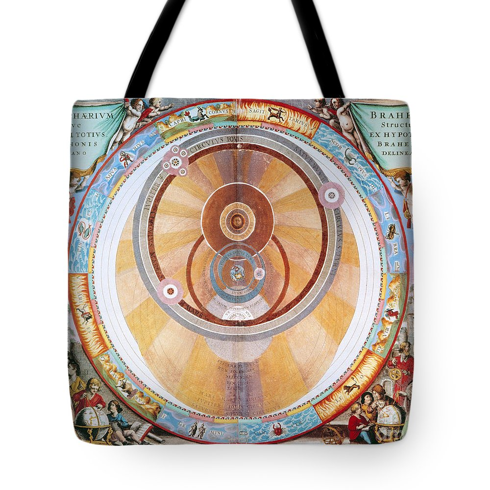 1660 Tote Bag featuring the photograph Map Of The Universe, 1660 by Granger