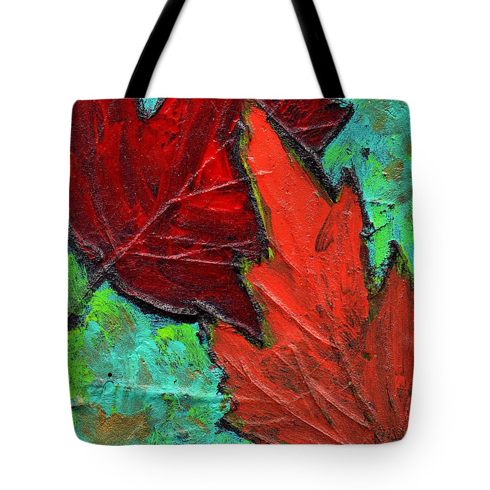 Maple Tote Bag featuring the painting Maple Leaves by Wayne Potrafka