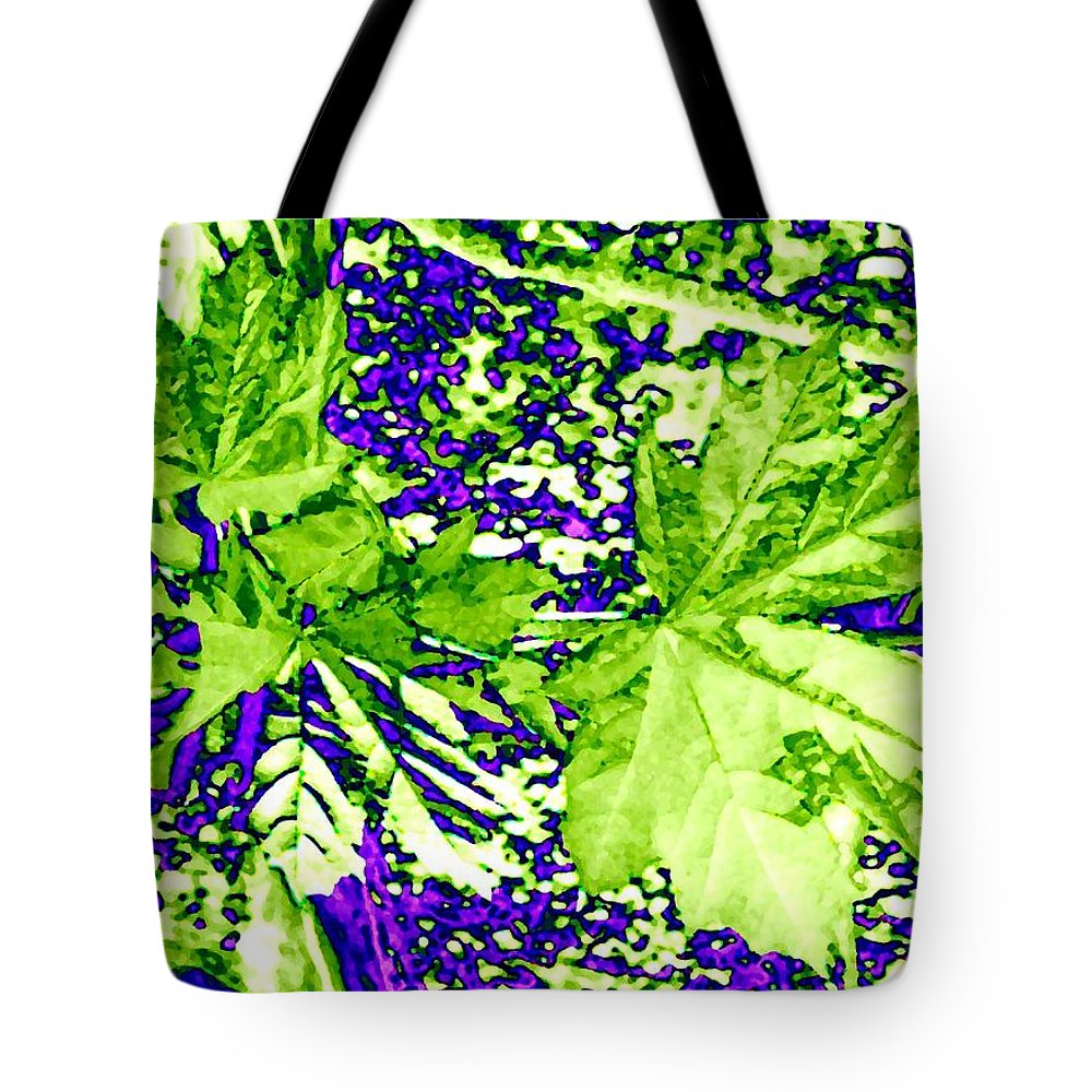 Maple Leaves Tote Bag featuring the digital art Maple Mania 19 by Will Borden