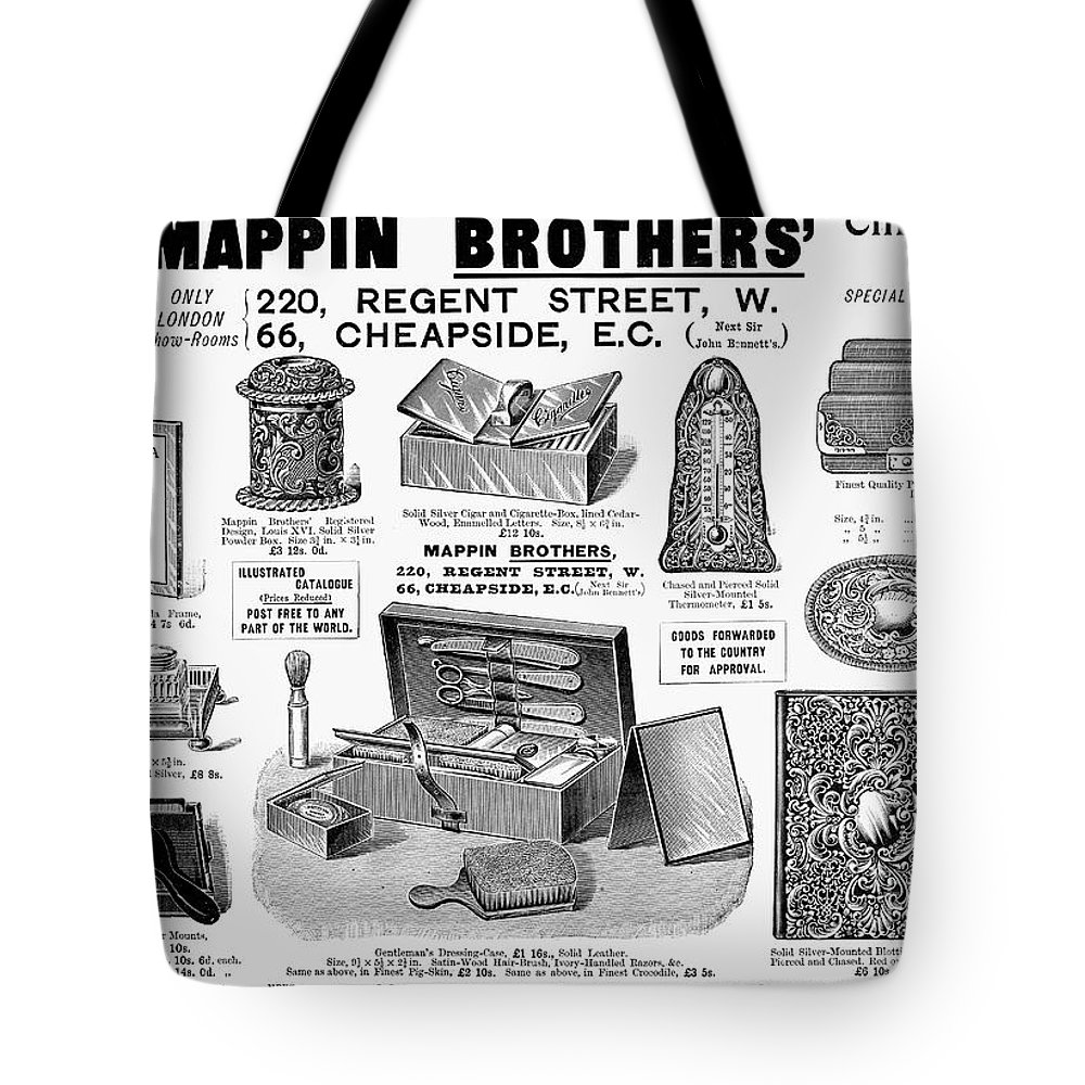 1895 Tote Bag featuring the photograph Mappin Brothers Ad, 1895 by Granger