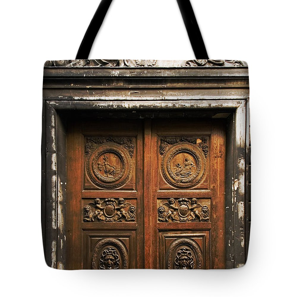 Aris Tote Bag featuring the photograph Marais Doorway by Mick Burkey