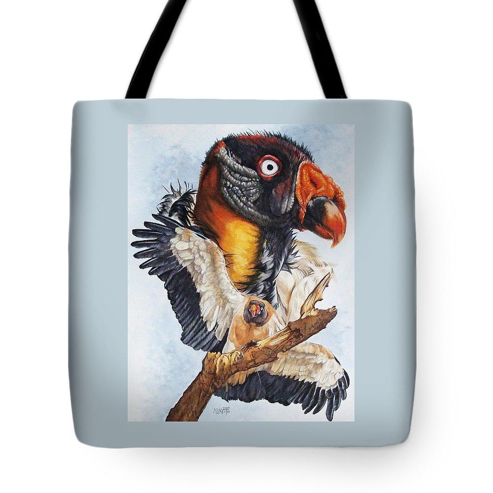 Vulture Tote Bag featuring the mixed media Marauder by Barbara Keith