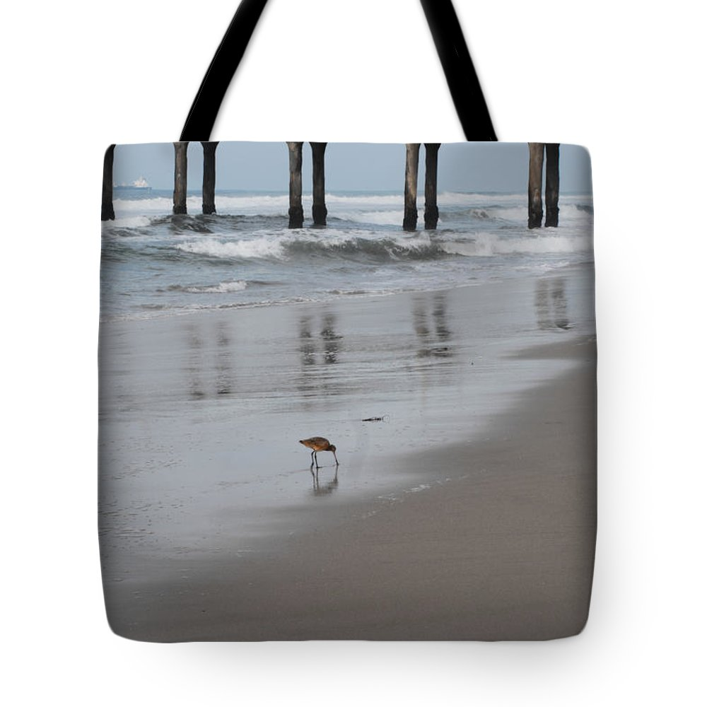 Marbled Gotwit Tote Bag featuring the photograph Marbled Gotwit By Mike-hope by Michael Hope
