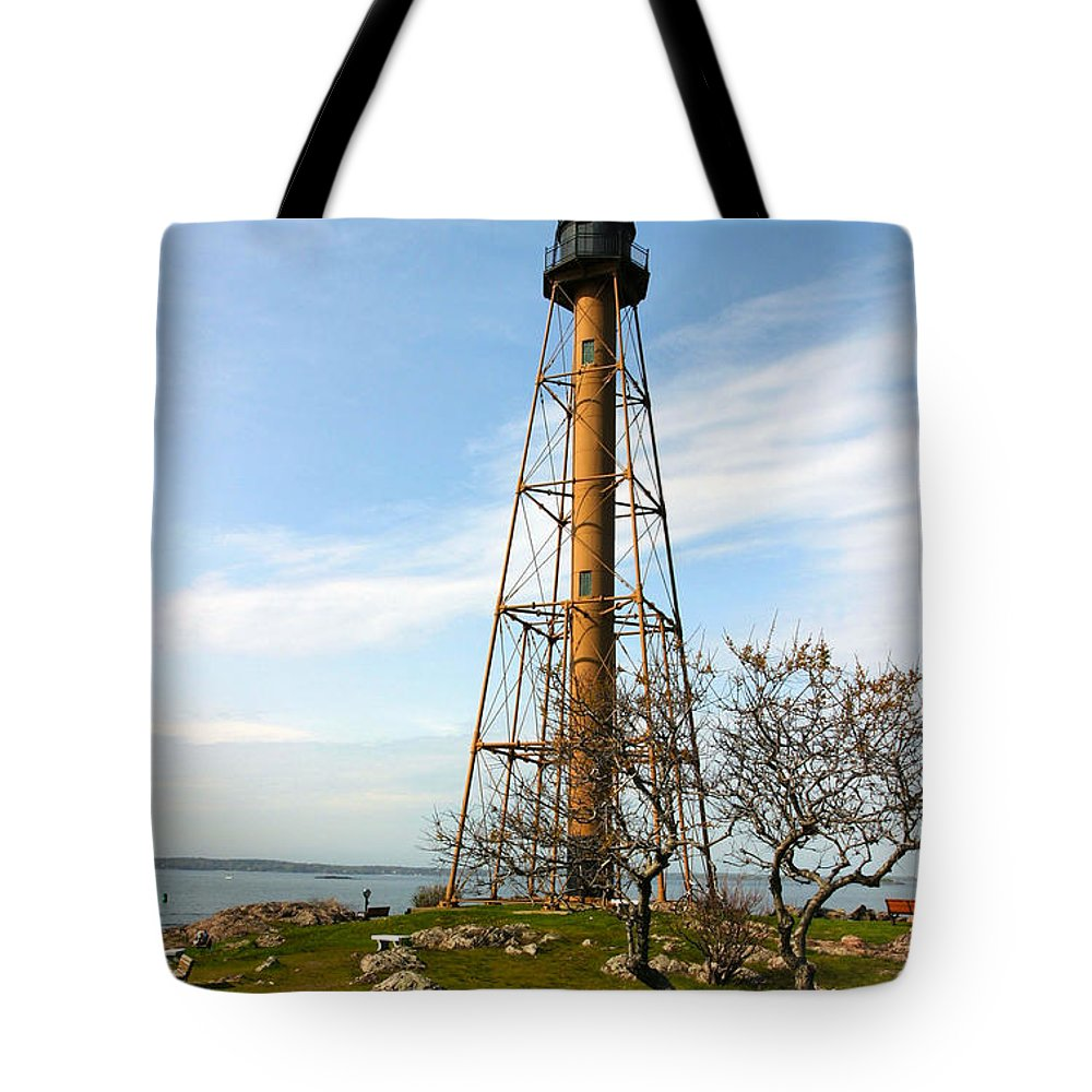 Marblehead Lighthouse Tote Bag featuring the photograph Marblehead Light by Michelle Constantine