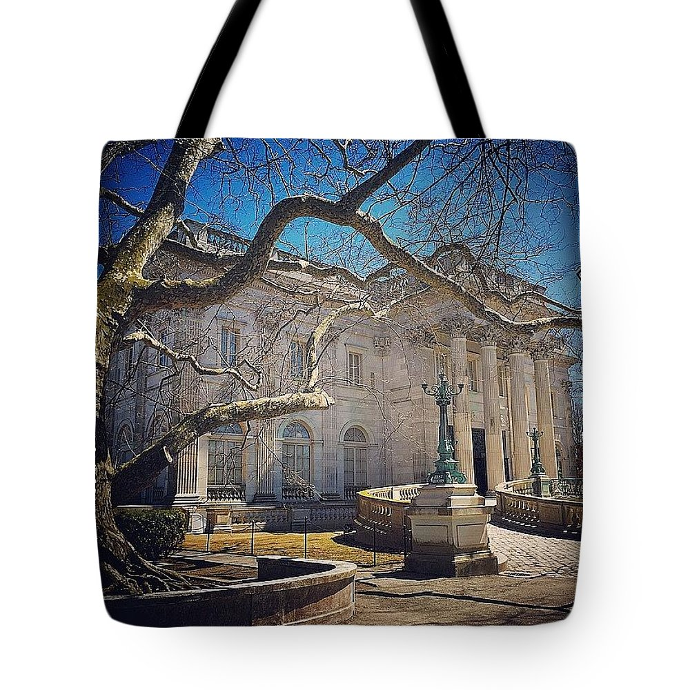 Rhode Island Tote Bag featuring the photograph Marble House by Kate Arsenault