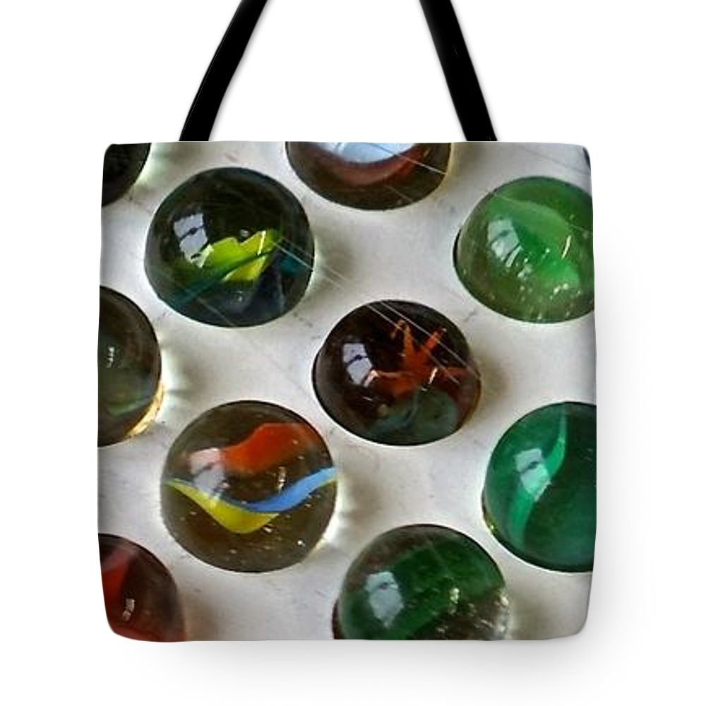 Antique Tote Bag featuring the photograph Marbles by Shirley Stevenson Wallis