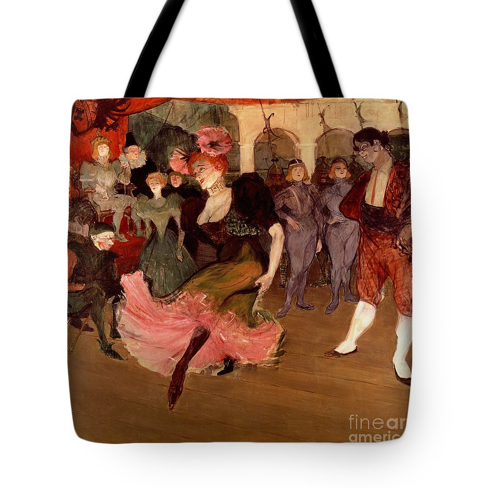 Lautrec Tote Bag featuring the painting Marcelle Lender Dancing The Bolero In Chilperic by Henri de Toulouse Lautrec