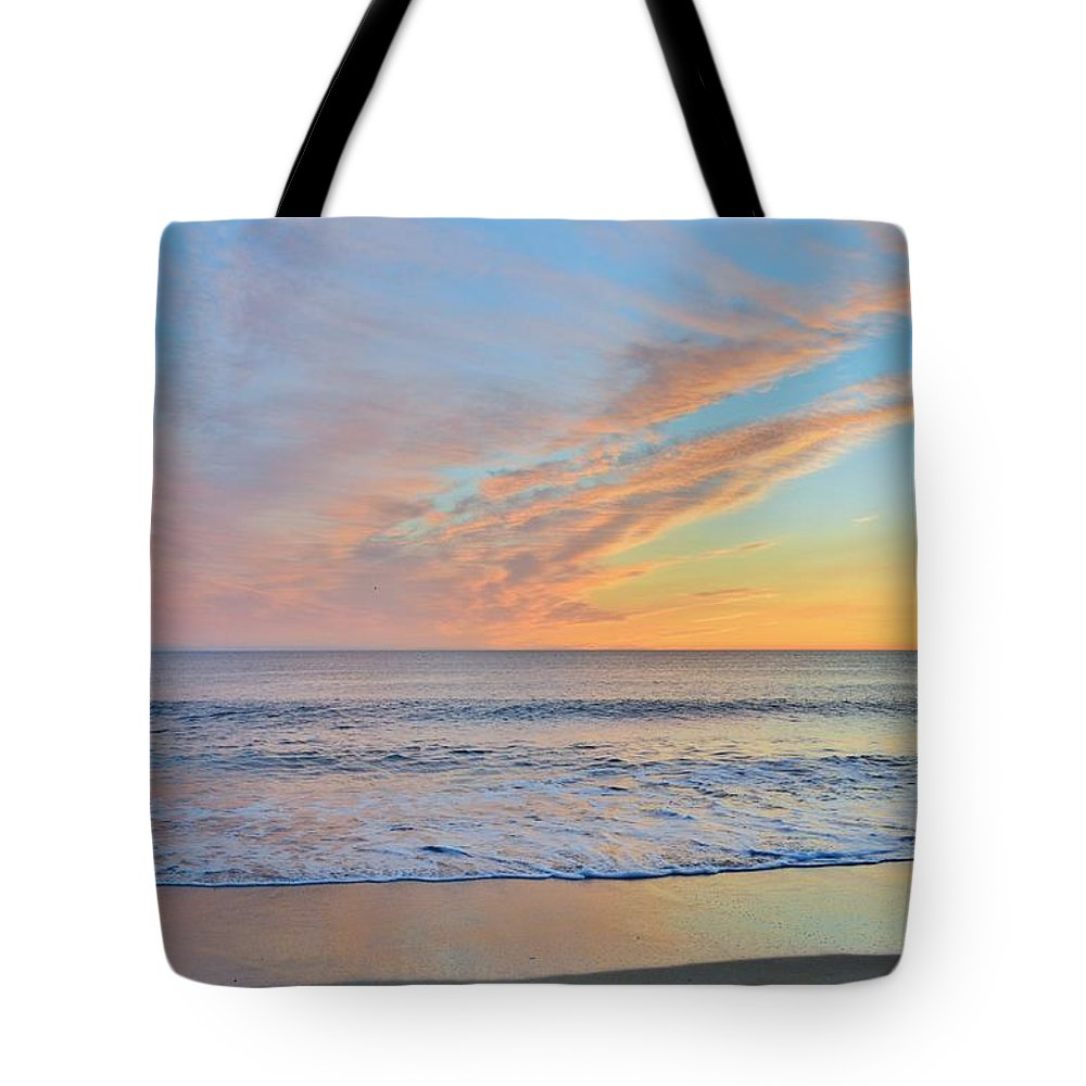 Obx Sunrise Tote Bag featuring the photograph March 9th Sunrise 2017 by Barbara Ann Bell