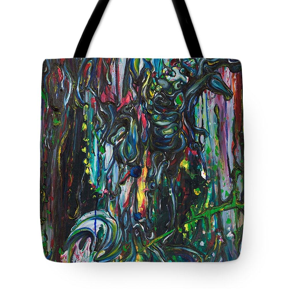 Surreal Tote Bag featuring the painting March Into The Sea by Sheridan Furrer