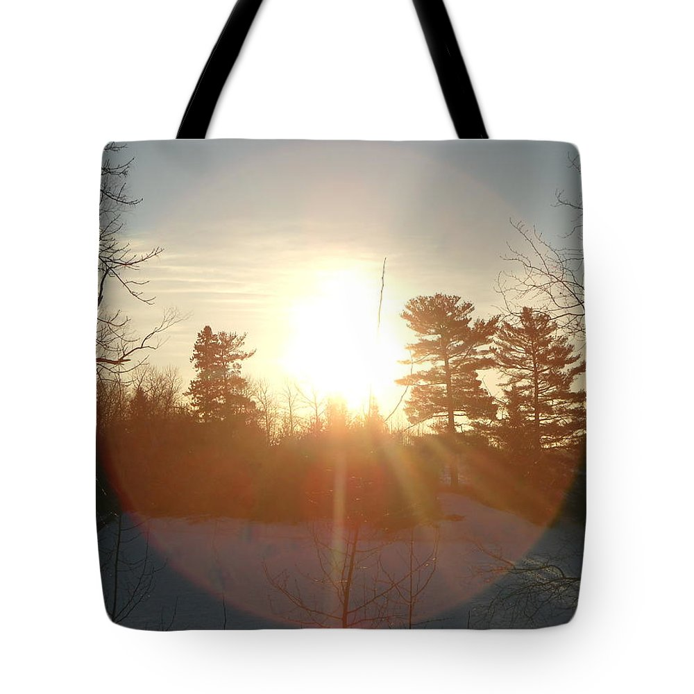 Mississippi River Tote Bag featuring the photograph March Sunrise Circle by Kent Lorentzen