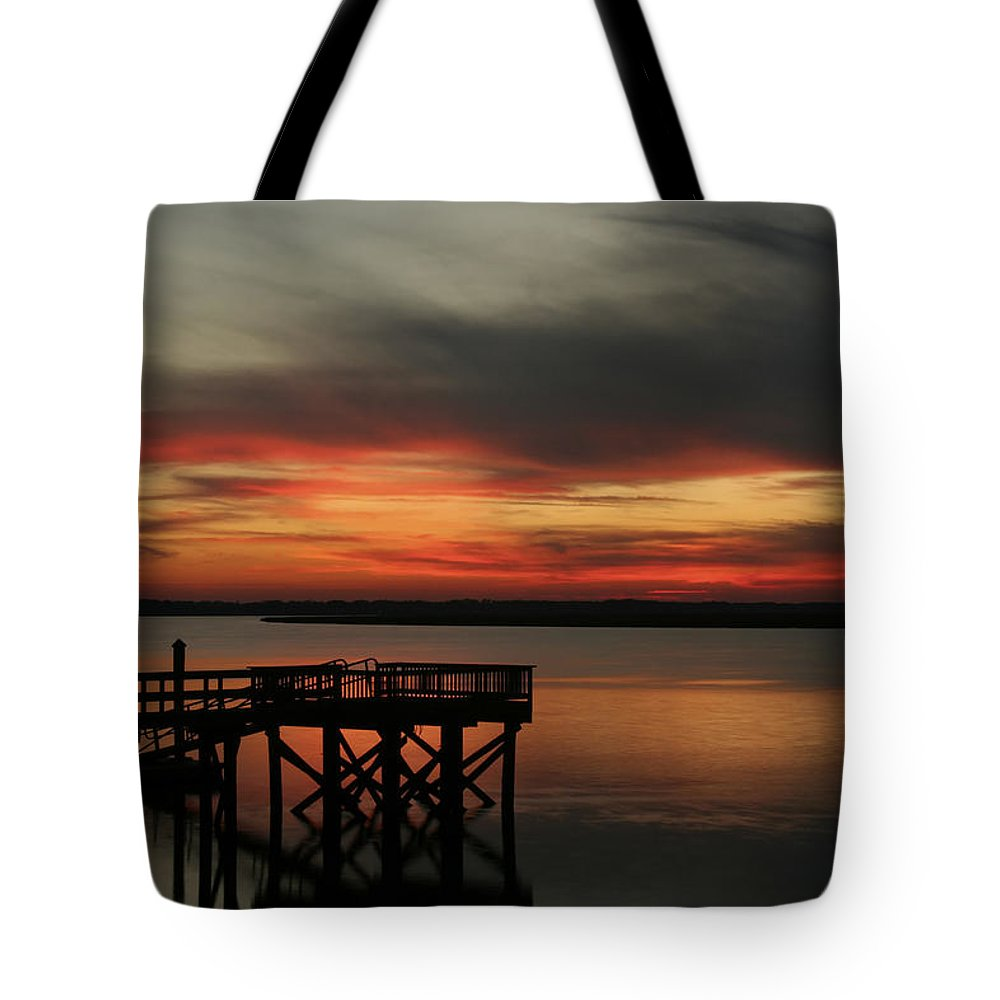Sunset Tote Bag featuring the photograph March Sunset by Phill Doherty