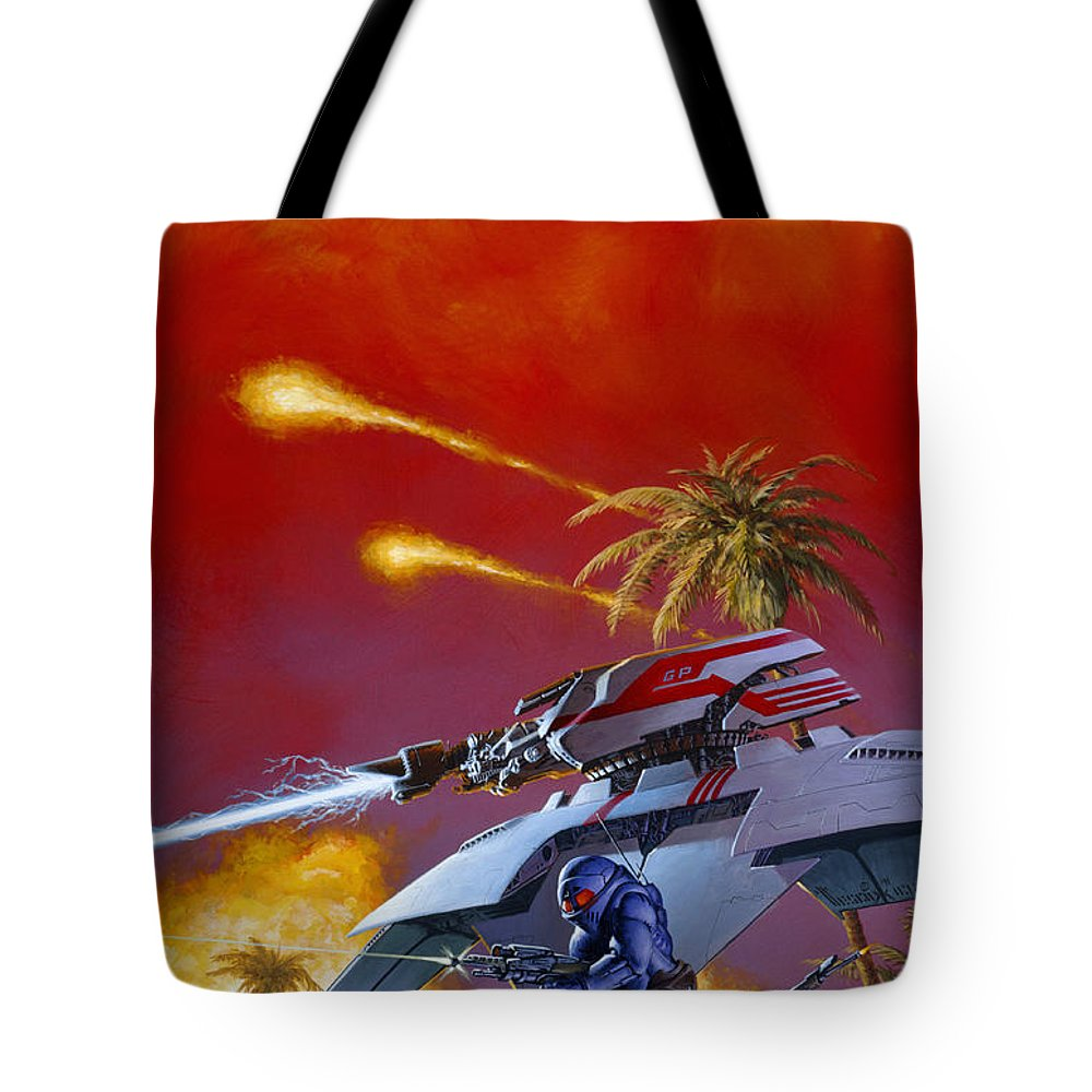 Space Tote Bag featuring the painting March To Glory by Richard Hescox