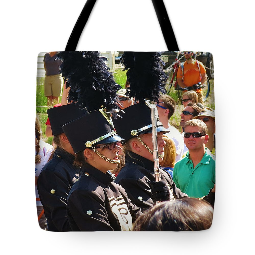 Mountain Towns Tote Bag featuring the photograph Marching Band Wind by Sarah Maple