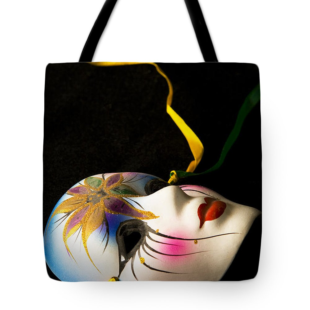 Mask Tote Bag featuring the photograph Mardi Gras by Ayesha Lakes