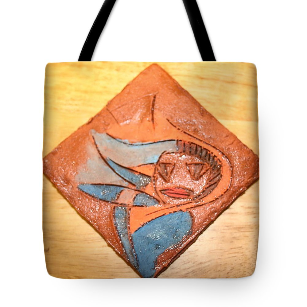 Jesus Tote Bag featuring the ceramic art Marg - Tile by Gloria Ssali
