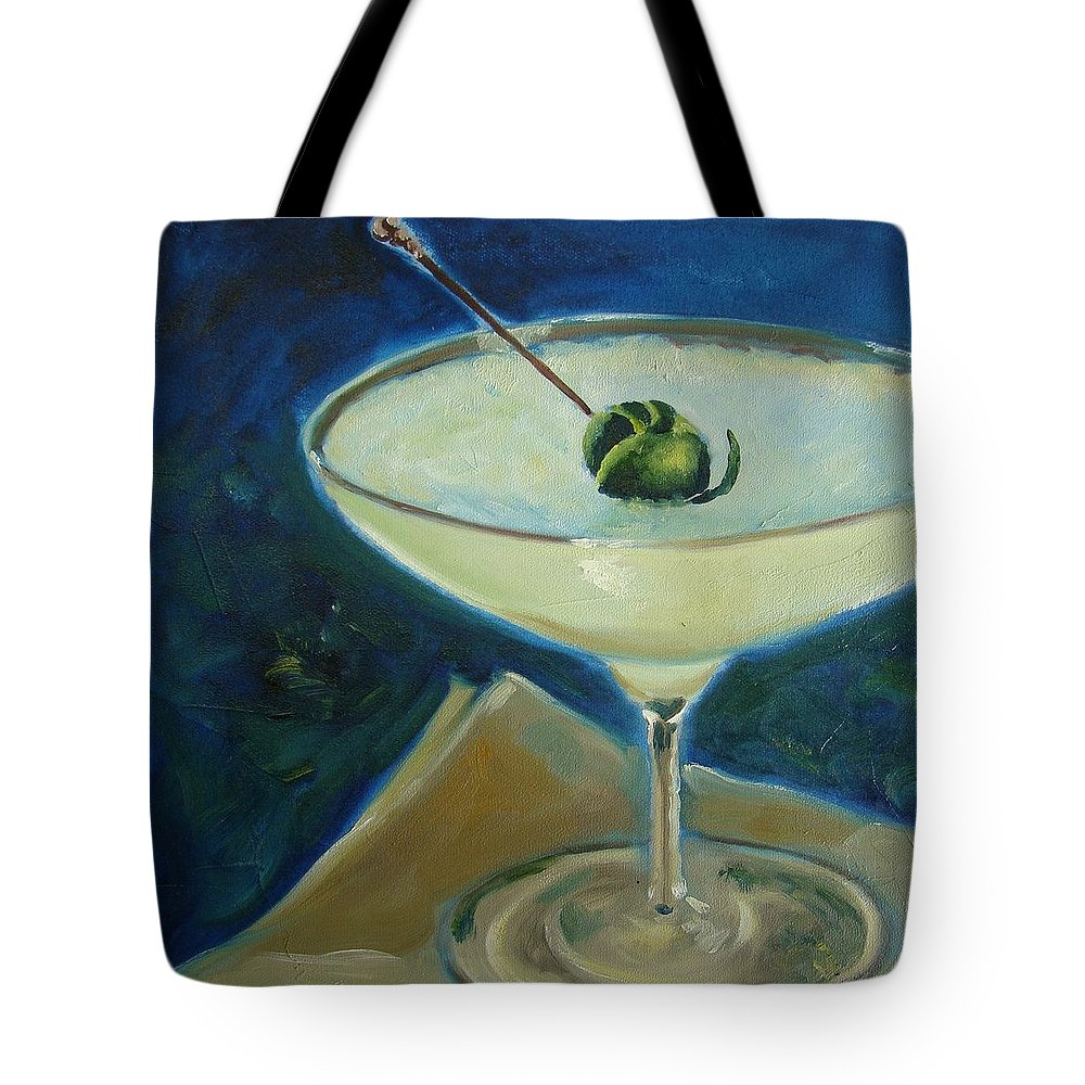 Cocktail Tote Bag featuring the painting Margarita by Christina Clare