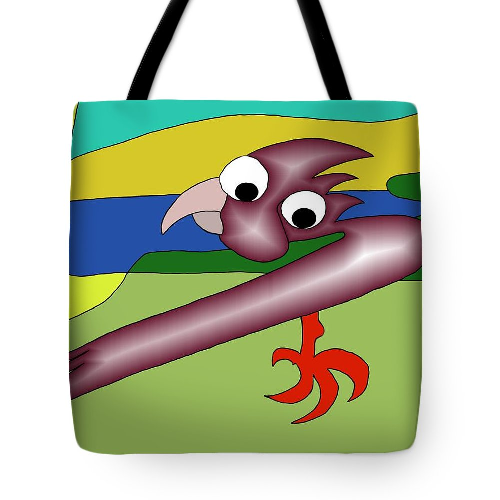 Husband Tote Bag featuring the digital art Margot And Coco Watching Tv by Helmut Rottler